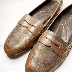 Born Leather Pelton Loafers Brown Size 7.5